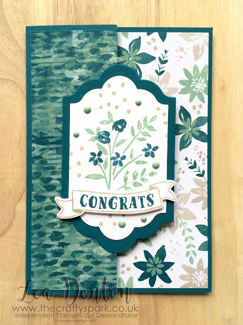 stampin-up-uk-blooms-bliss-congratulations-fancy fold-lea-denton-the-crafty-spark