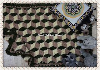 crochet blanket, illusion blanket