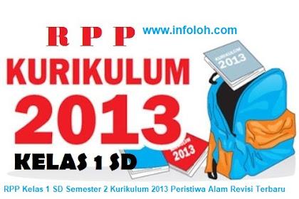 RPP Kelas 1 SD Semester 2 Kurikulum 2013 Peristiwa Alam Revisi Terbaru