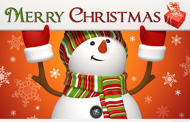 Merry Christmas Funny Snowman Wish Image