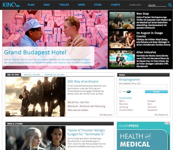 Kino.de, un portal de cine