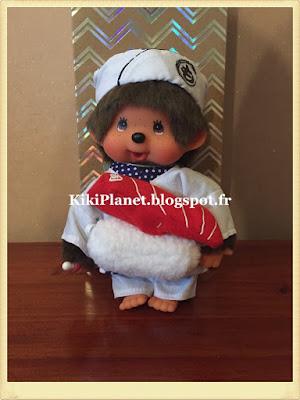 le Monchhichi  Japanese Sushi Master Boy  référence 261031, kiki, vintage, jouet