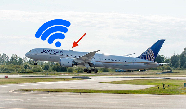 How do airplanes connect to the Internet at 35,000 feet, and why not all airlines offer this service?