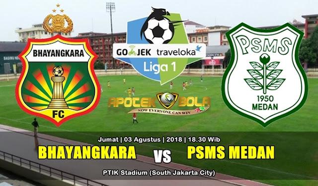 Prediksi Bhayangkara FC vs PSMS 3 Agustus 2018