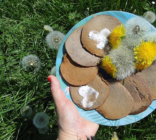 Czekoladowe placki budyniowe z mąki orkiszowej
