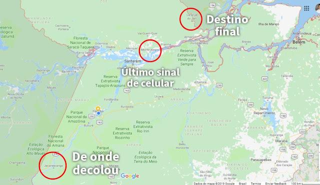 Buscas por avião que desapareceu após decolar de Jacareacanga se concentram em Monte Alegre