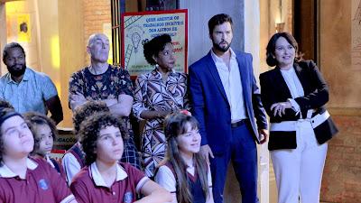 Paulo (Willian Melo) fica furioso ao assistir a apresentação do filho, Éric- Crédito das fotos: Lourival Ribeiro/ Gabriel Cardoso - SBT