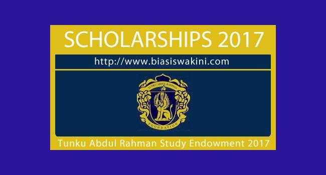 Tunku Abdul Rahman Study Endowment (BPTAR) 2017