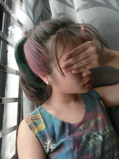 Galaxy ombre hair