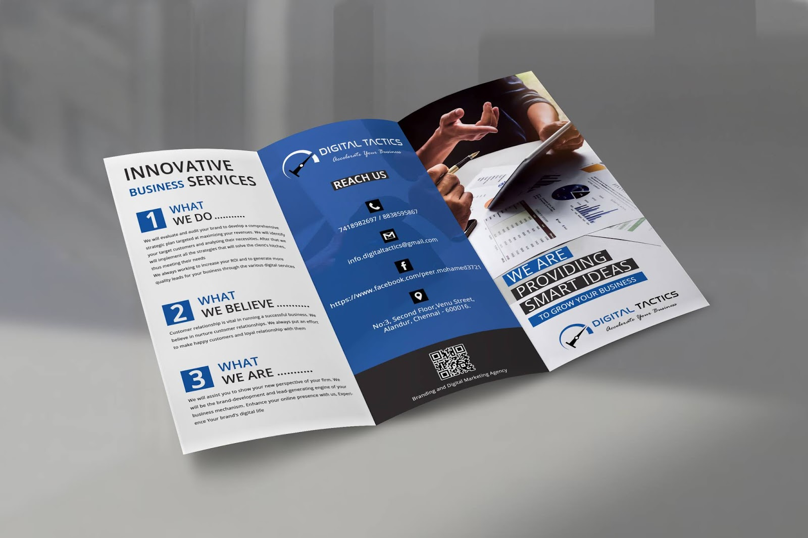 sathya digital tactics printable tri fold brochure