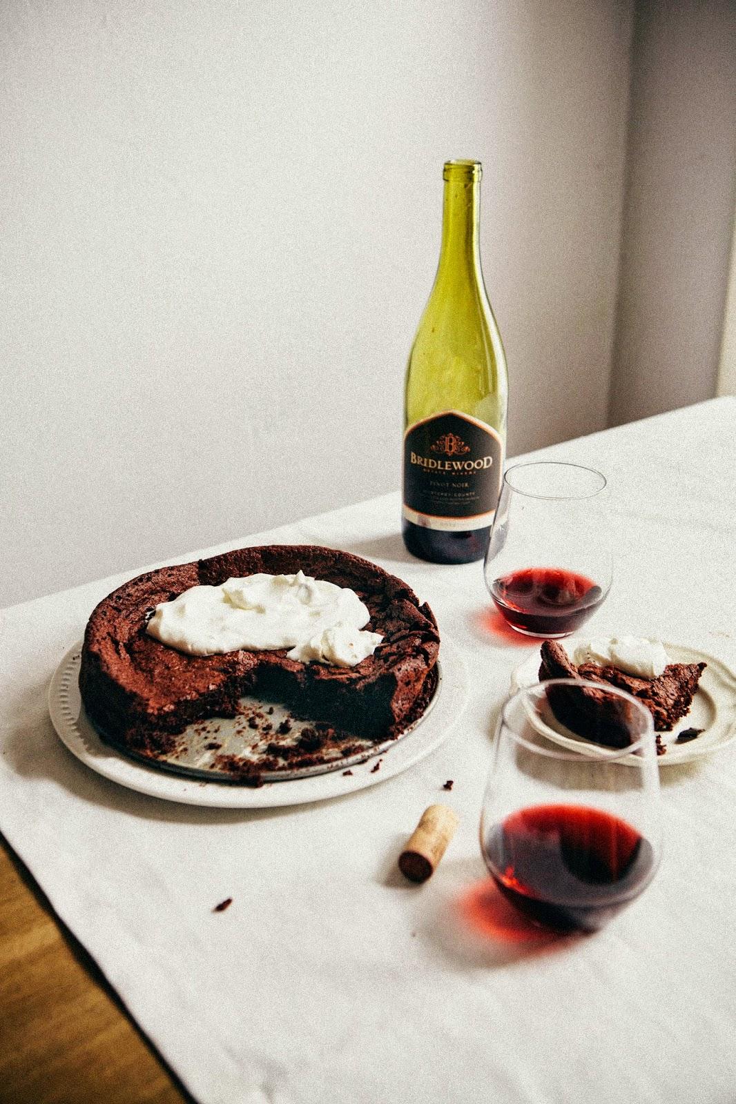 Flourless Chocolate And Red Wine Swedish Cake