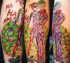 10 The Smile of Joker tattoo sleeve