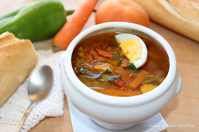 Sopa de verduras. Julia y sus recetas