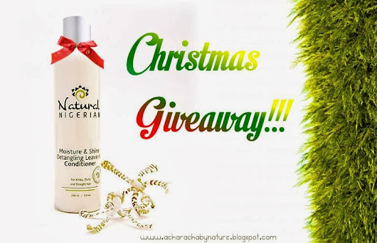 :: GIVEAWAY :: NATURAL NIGERIAN MOISTURE AND SHINE DETANGLING LEAVE - IN CONDITIONER