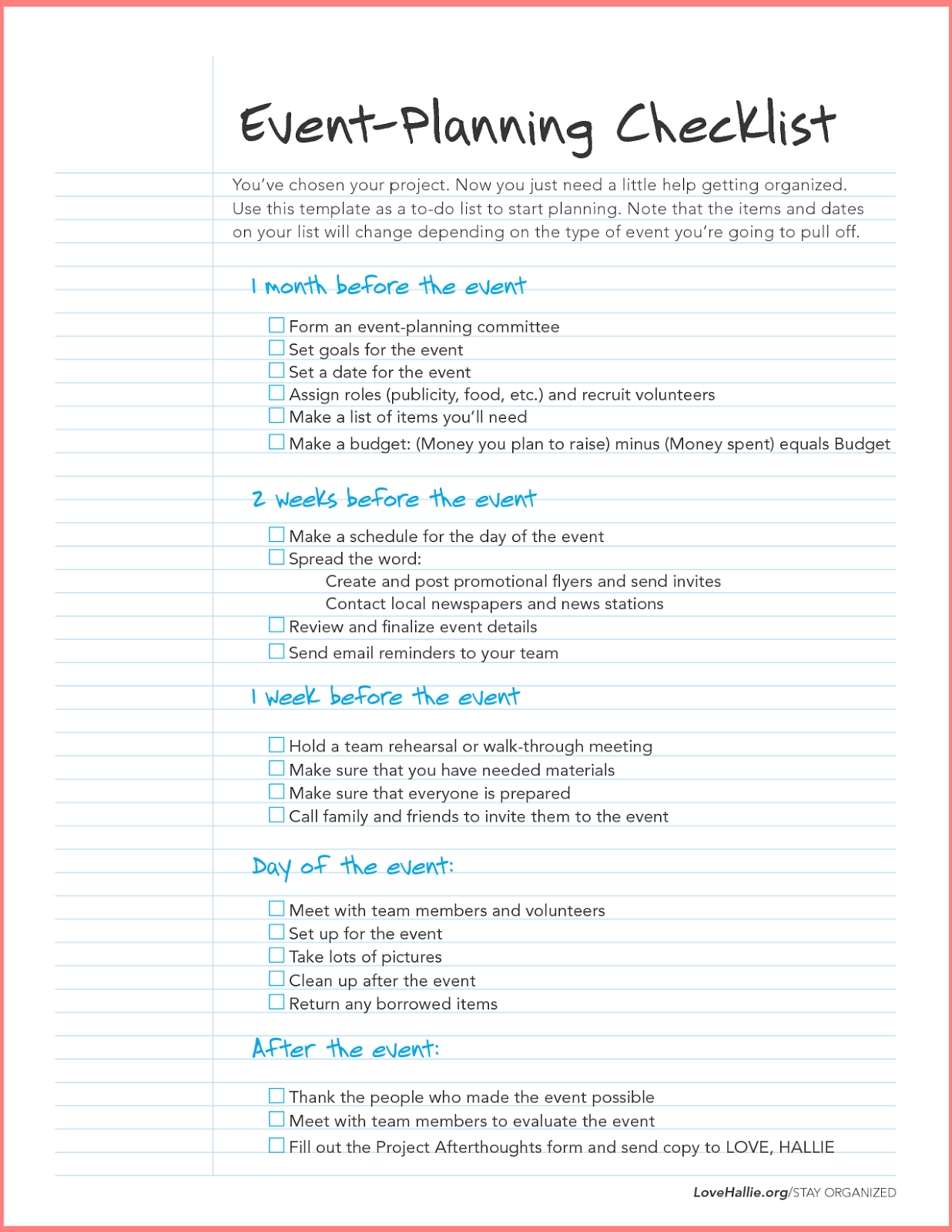 Event Planning Business Plan Sample Pdf Event DIY Home Plans – Sample Event Checklist Template
