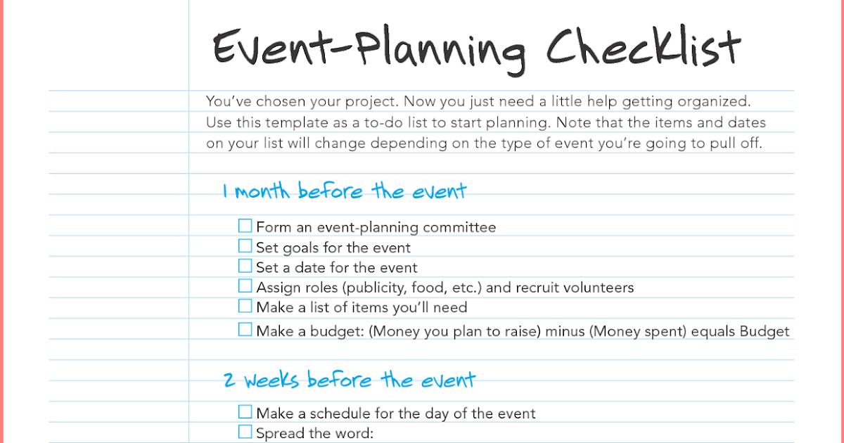 Business Plan Sample Event Management – Sample Event Planning Checklist