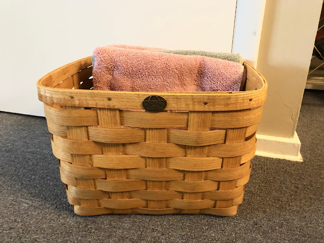 Peterboro Basket used to store towels