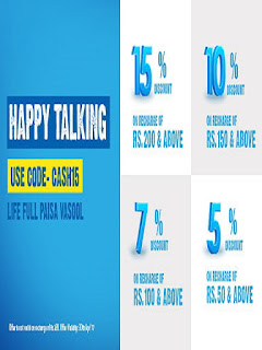 Telenor Offer Get 15% off on recharge of Rs. 200 & above