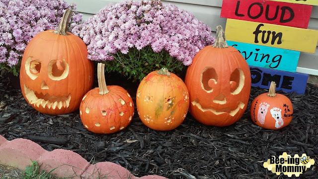 pumpkin decorating, drill pumpkins, paint pumpkin, baby's first pumpkin, toddler pumpkin decorating,