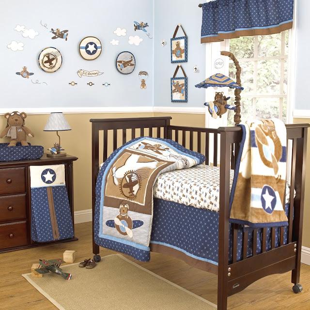 Airplane Themed Nursery Bedding ~ TheNurseries