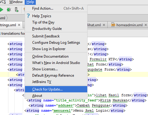 Manual Update Android Studio