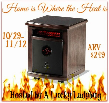 Enter the Home is Where the Heat Is Giveaway. Ends 11/12.