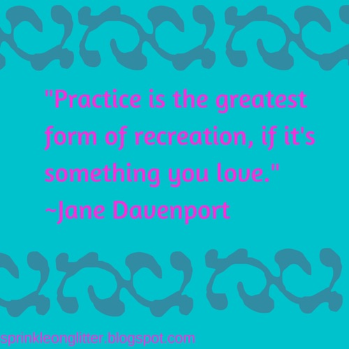 Sprinkle On Glitter Blog//Jane Davenport Quote
