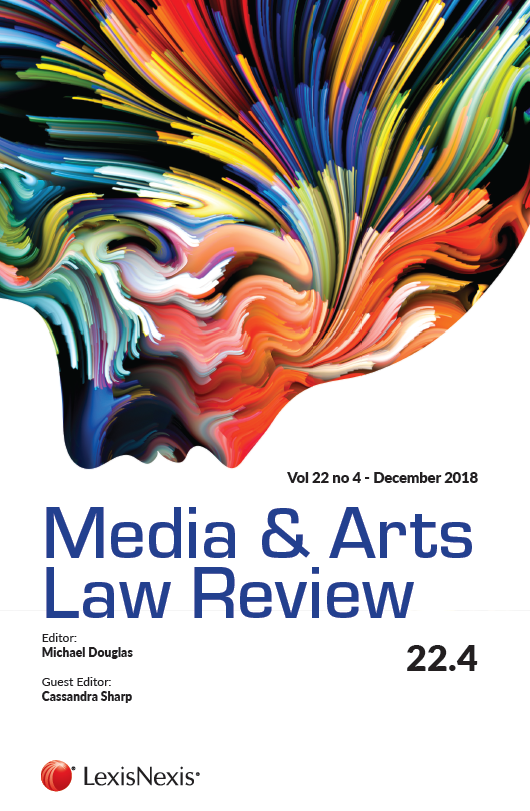 Pop! Goes The Legal: NEW RELEASE: SPECIAL ISSUE OF MEDIA AND ARTS