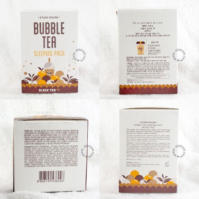 Etude House Bubble Tea Sleeping Pack, Etude House Bubble Tea Sleeping Pack review, Etude House Bubble Tea Sleeping Pack Black tea Review