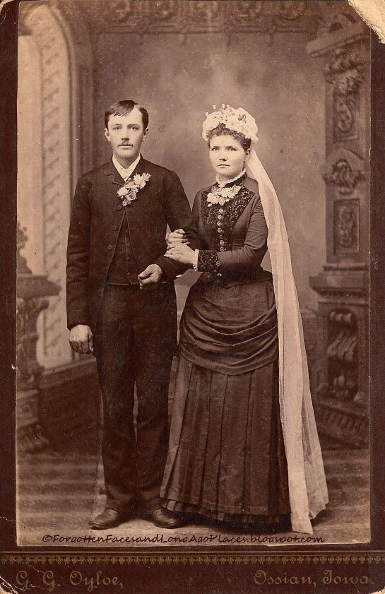 Carte de visite, photo de mariage victorienne