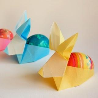 origami easter egg holders