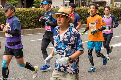 Participants in the Tokyo Marathon 2018, Asakusabashi, Tokyo, Japan.