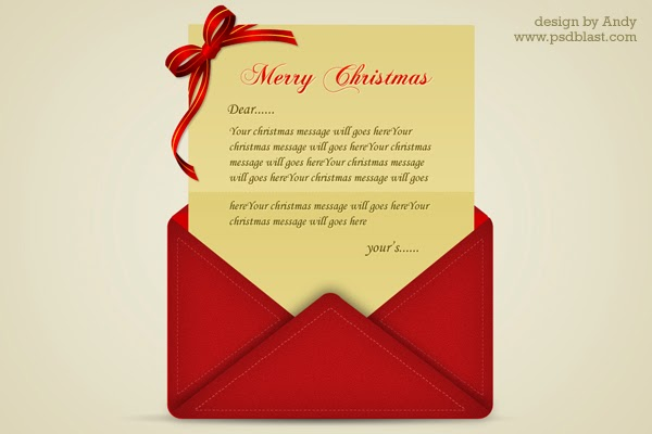 6. Greeting Letter For Christmas (PSD)