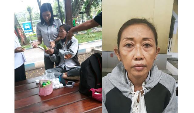 Nanik Ismeiwati saat dibekuk unit Opsnal Sat Resnarkoba