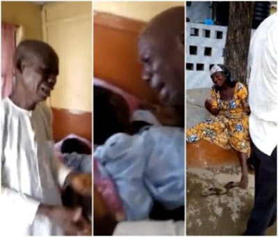 Heartbreaking video of a Nigerian couple crying uncontrollably with their child, who died due to unpaid medical bill