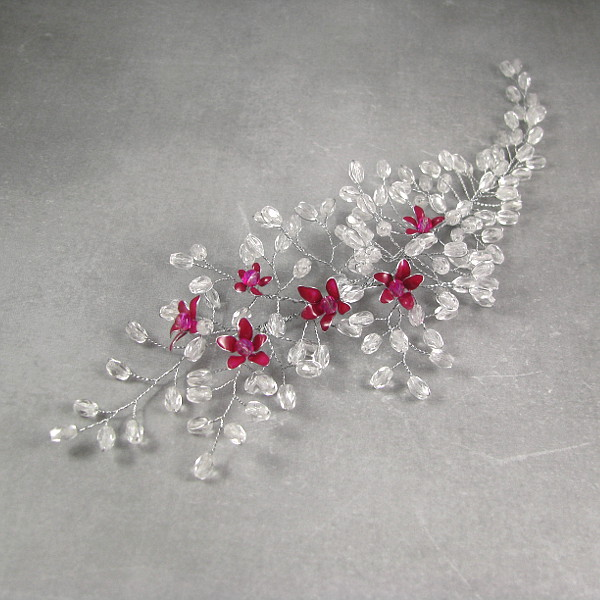 Kwitnące wiśnie - ozdoba ślubna do włosów