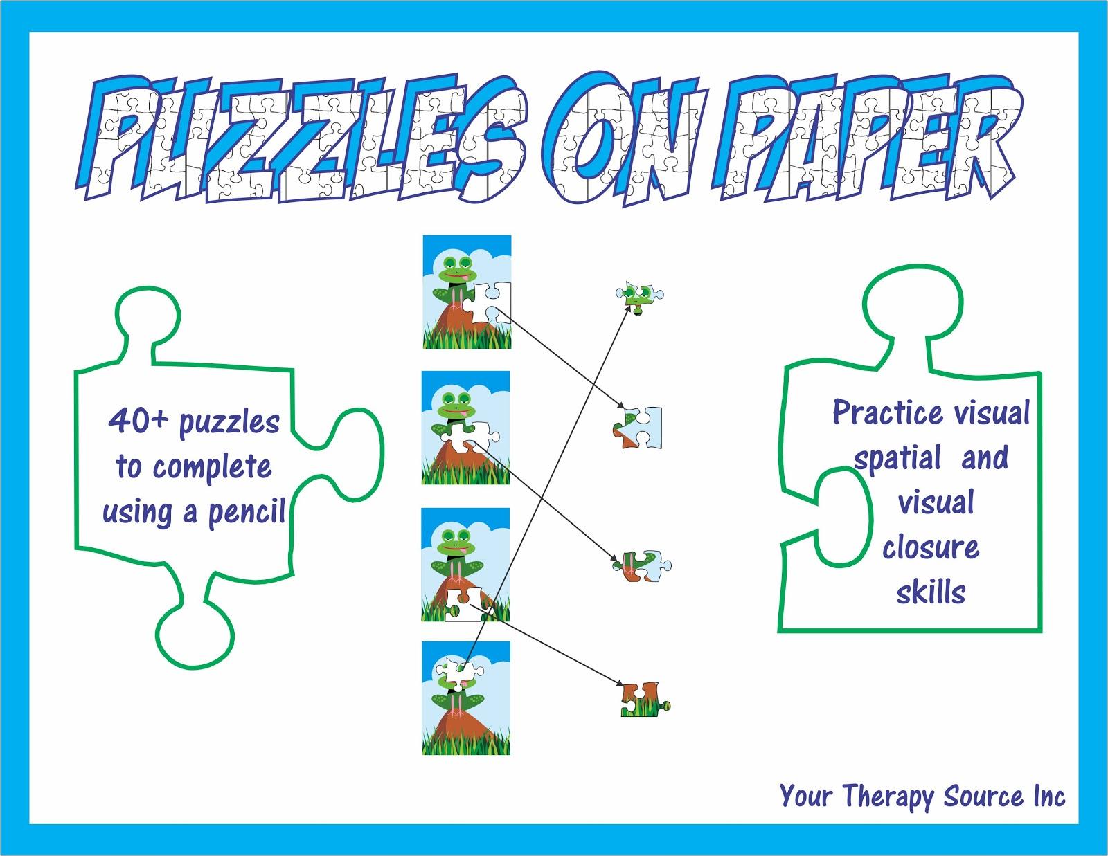 Visual Spatial And Visual Closure Puzzles