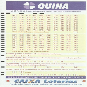 Análises estatísticas Quina 4532 acumulada R$ 2,2 milhões