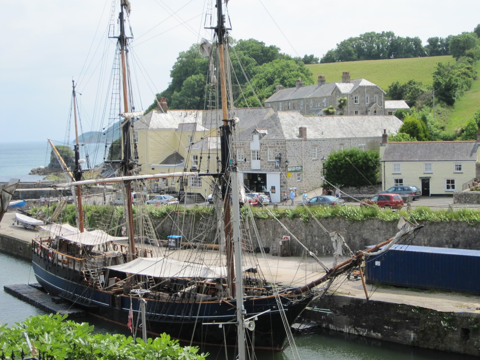 Cycle to historic Charlestown from Pentewan