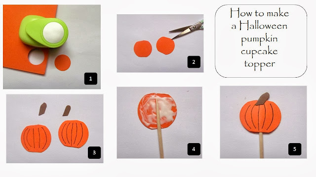 Halloween cupcake toppers tutorial