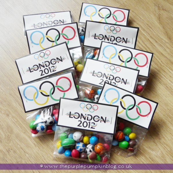 London 2012 Olympics Favor Bags at The Purple Pumpkin Blog