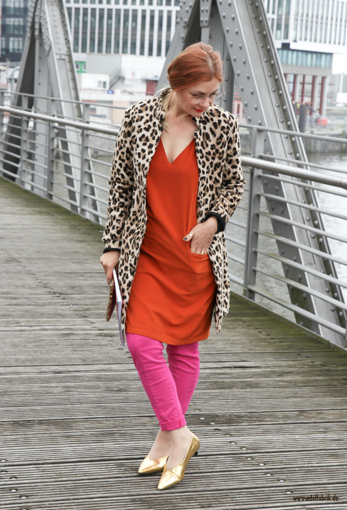 Pink, Fuchsiaund Orange, Color Blocking Outfit