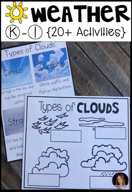 Are you looking for factual and fun weather activities for your kindergarten and first grade classroom?  Our weather unit is just what you need!