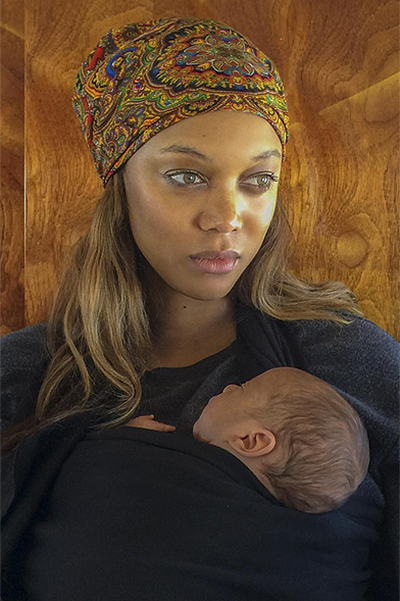 Tyra banks showed the first photo of newborn son