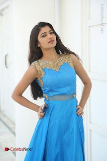 Telugu Actress Akshita (Pallavi Naidu) Latest Stills in Blue Long Dress at Inkenti Nuvve Cheppu Movie Promotions  0031.jpg