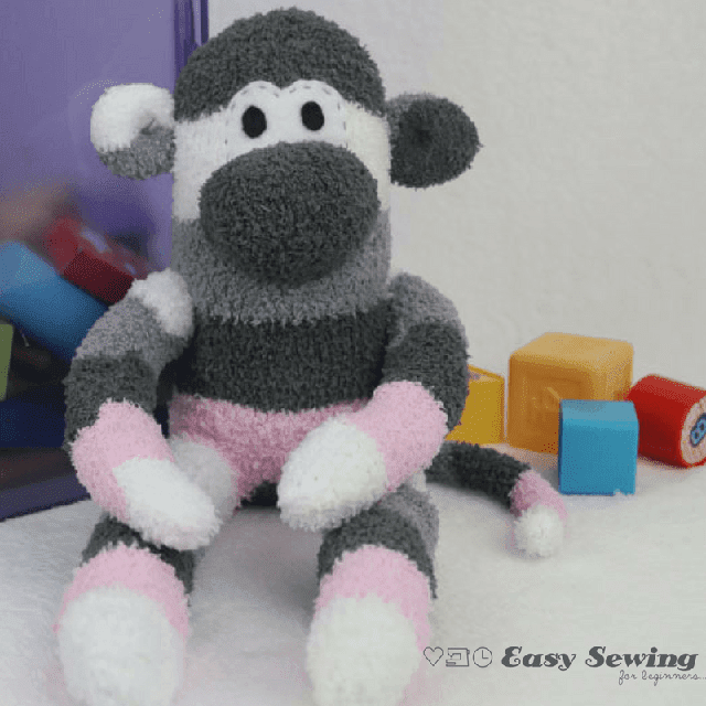 Learn how to make an adorable Sock Monkey. Tutorial by Easy Sewing for Beginners.