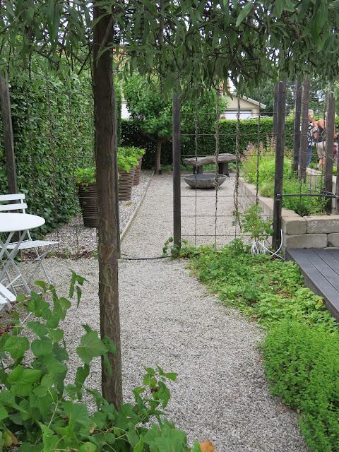 Rominndeling i my white garde, trädgårdsrundan, Helsingborg