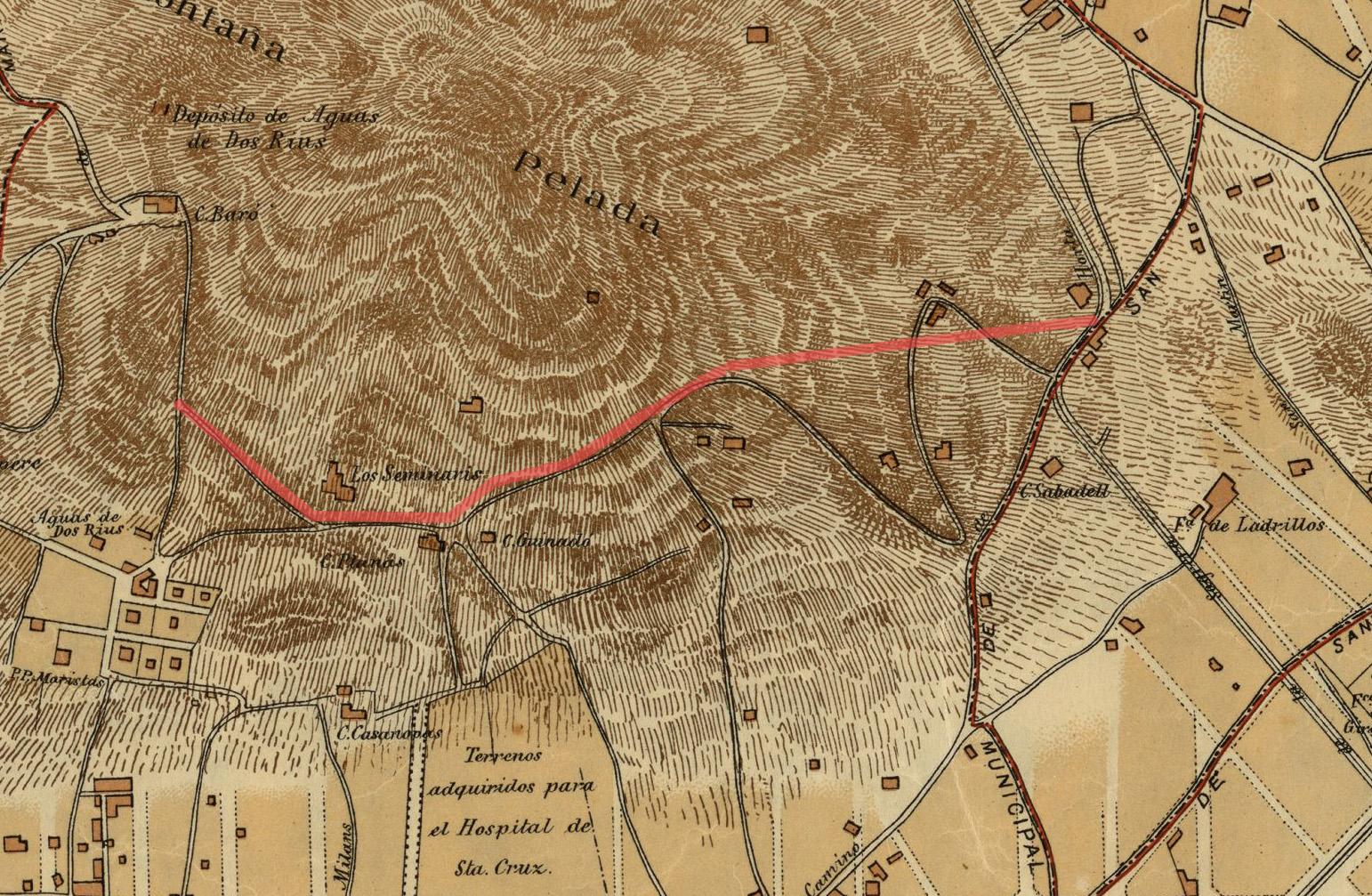Memòria Dels Barris Història De L Avinguda Mare De Déu De Montserrat