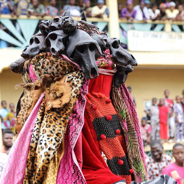 Osogbo, headgear of an Egungun