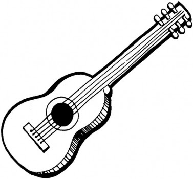 Coloring pages with guitars ~ Coloring Pages for Kids: Guitar Coloring Pages for Kids